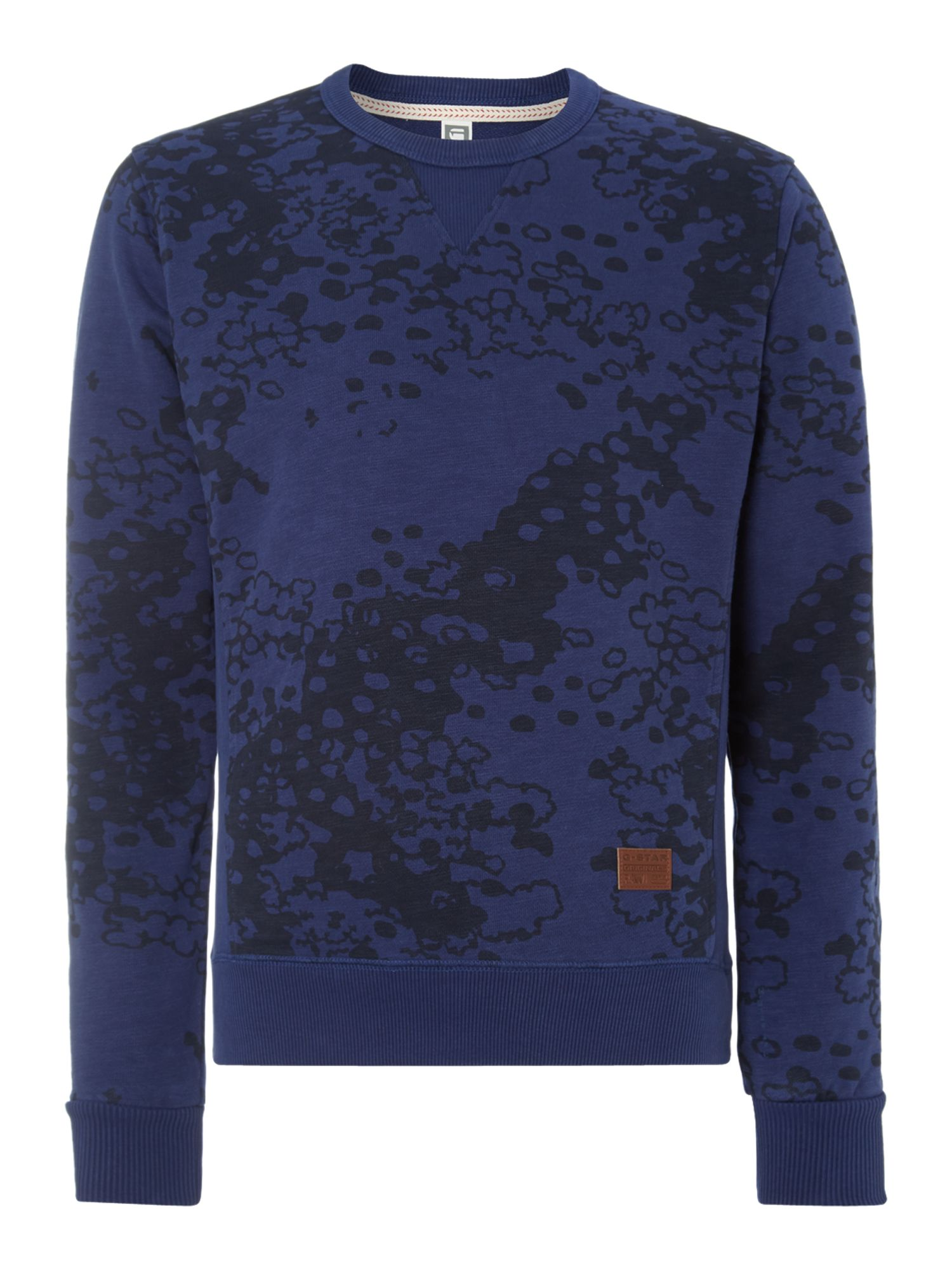 Spray on print sweatshirt