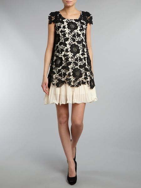 Jolie Moi Crochet lace layered dress