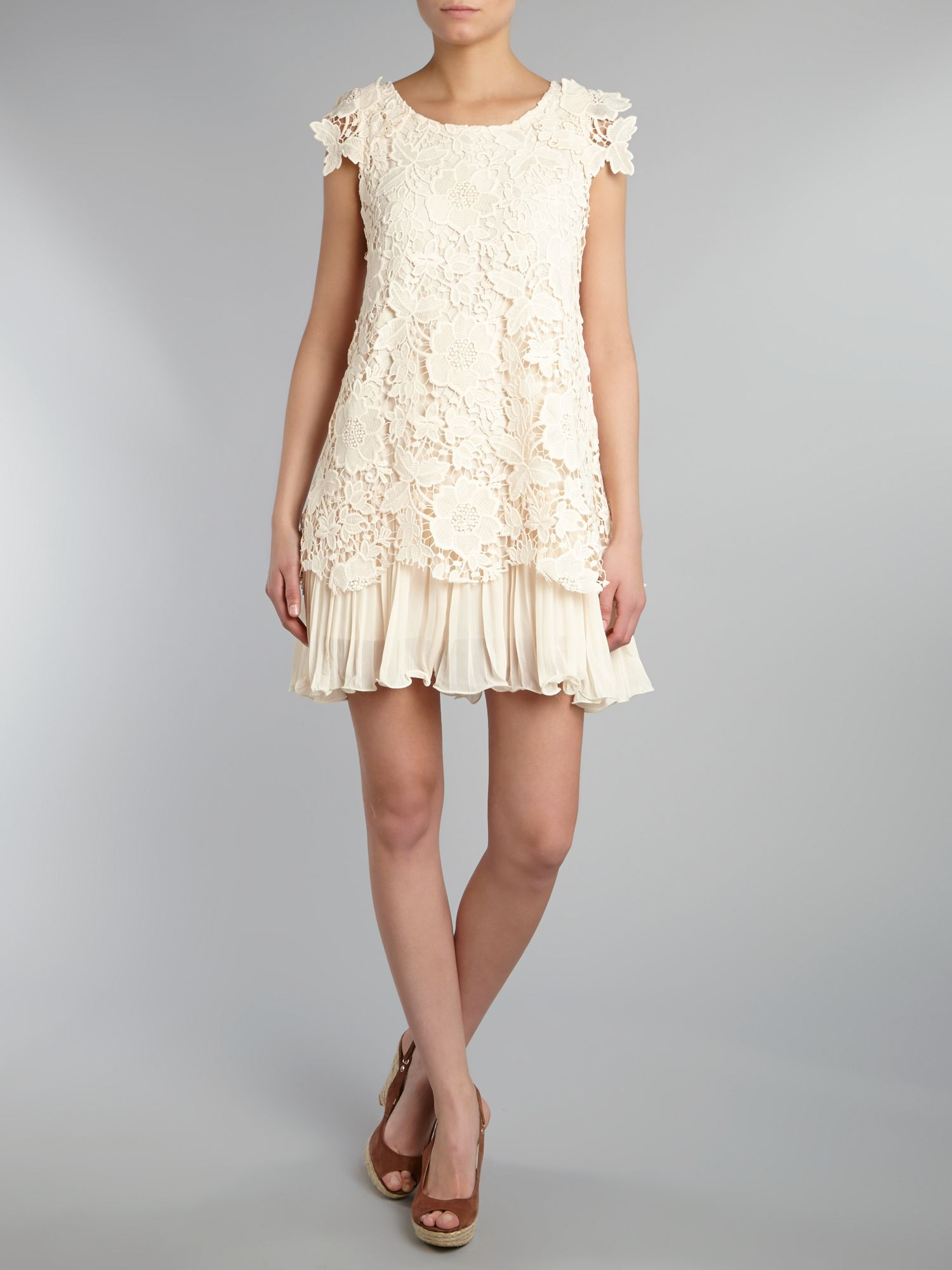 Crochet lace layered dress