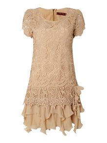 Jolie Moi Crochet lace dress