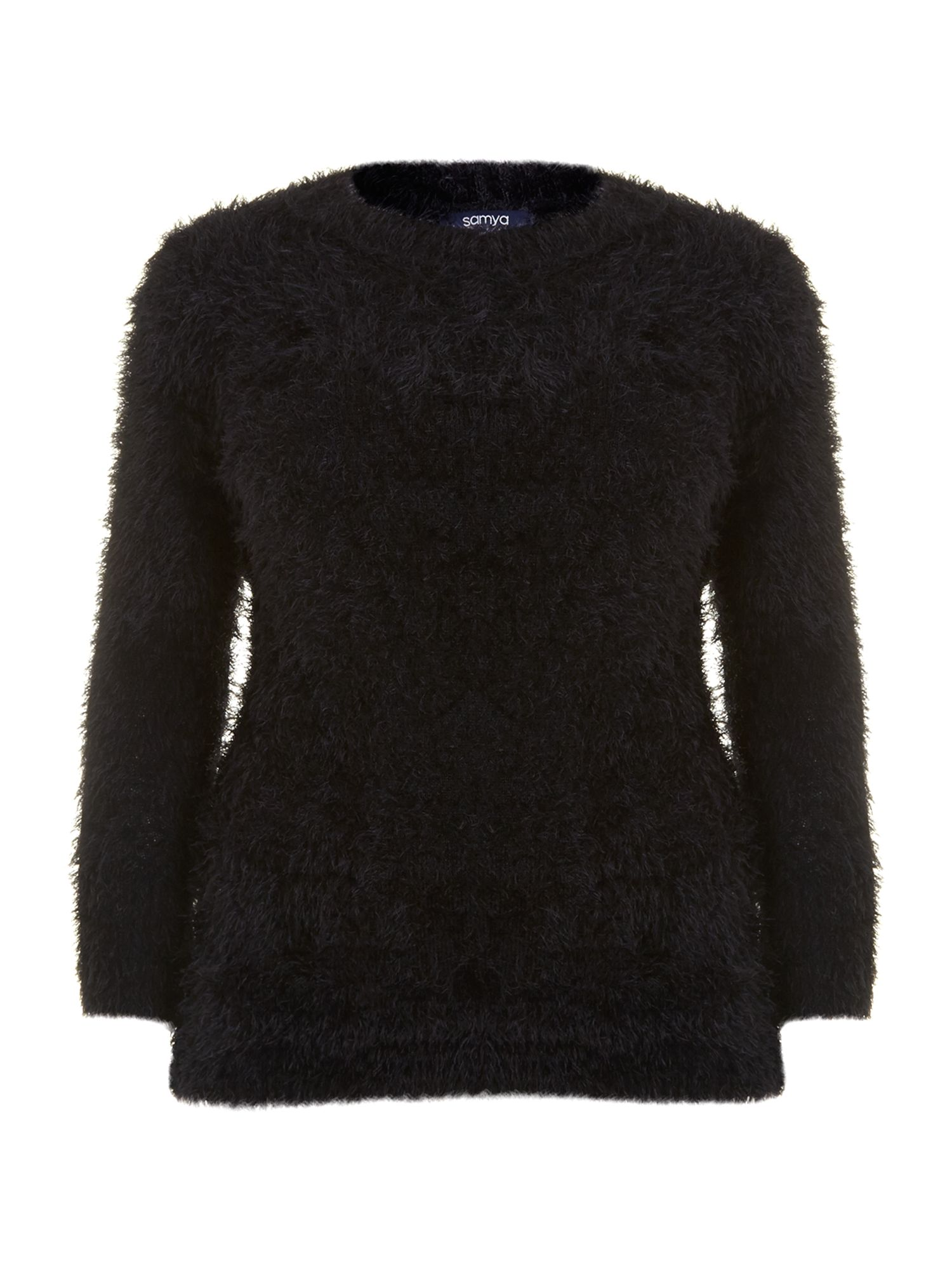 Long faux fur jumper