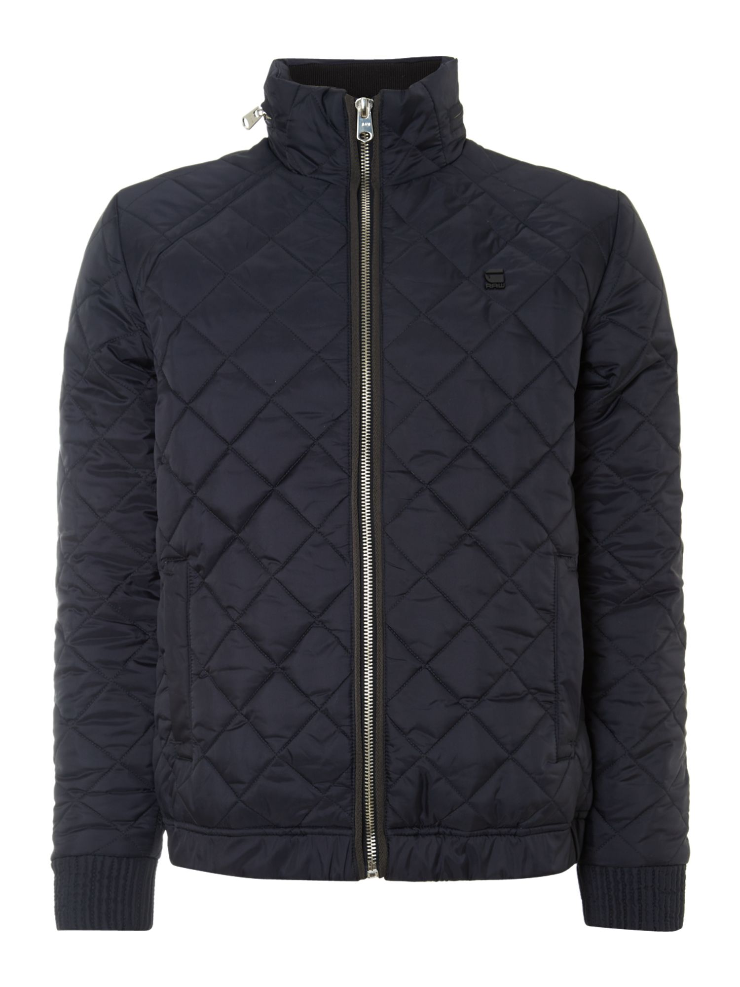 Zip through quilted overshirt