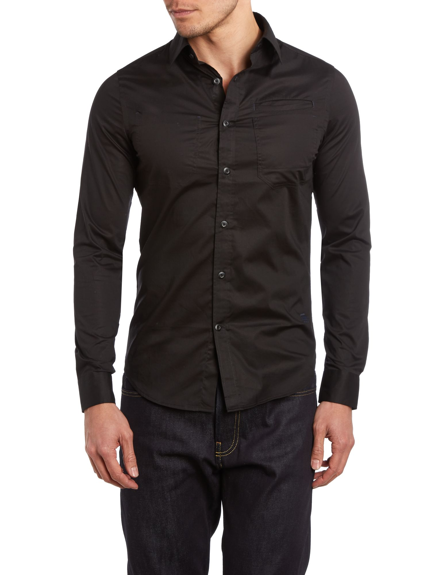 One Pocket Long Sleeve Shirt