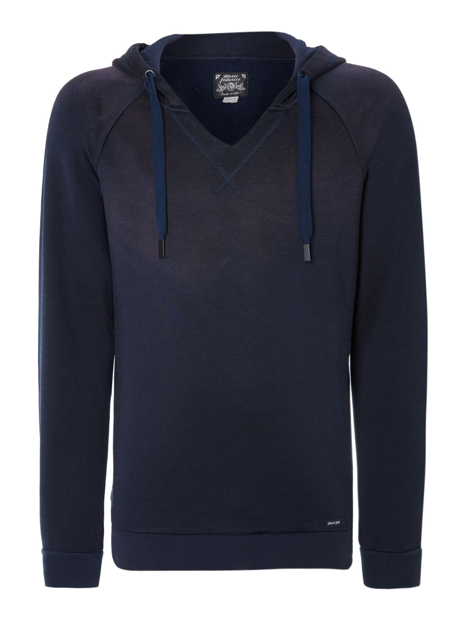 Open neck hoody
