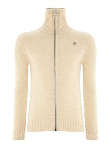 Zip thru turtle neck knitwear