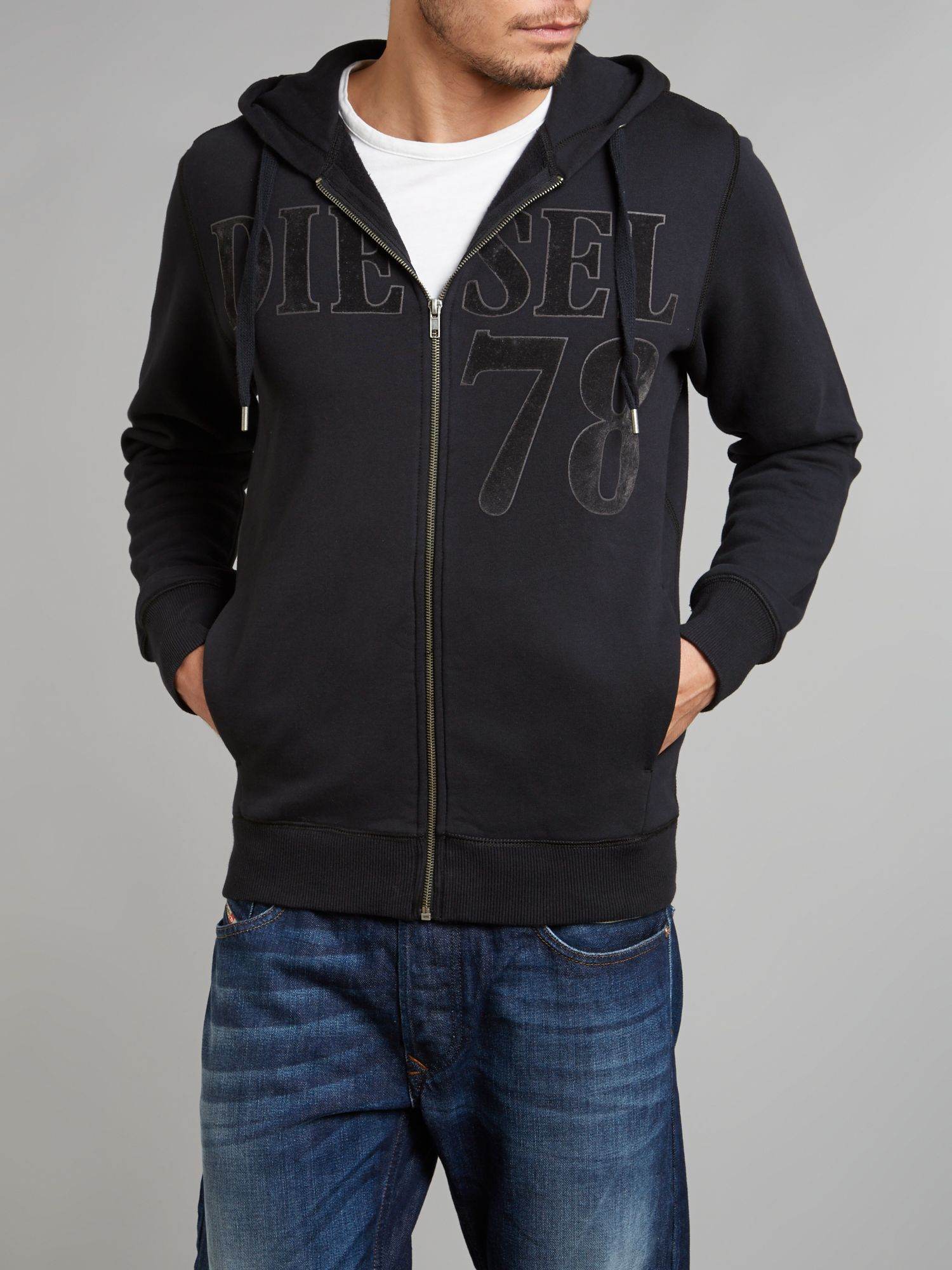 78 zip up diesel hoody
