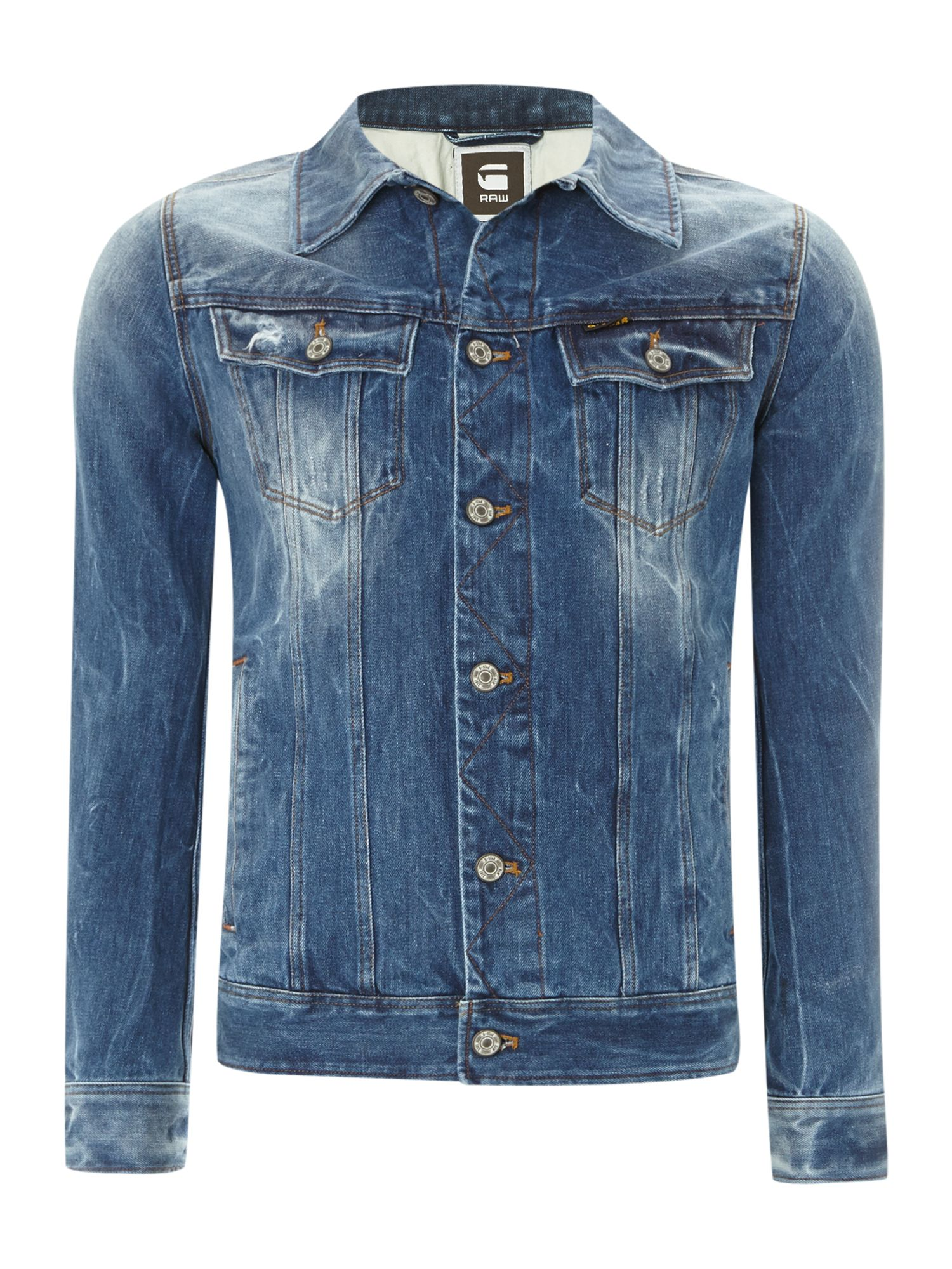 Slim tailored denim jacket