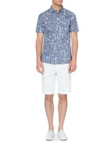 vegas print short sleeved shirt