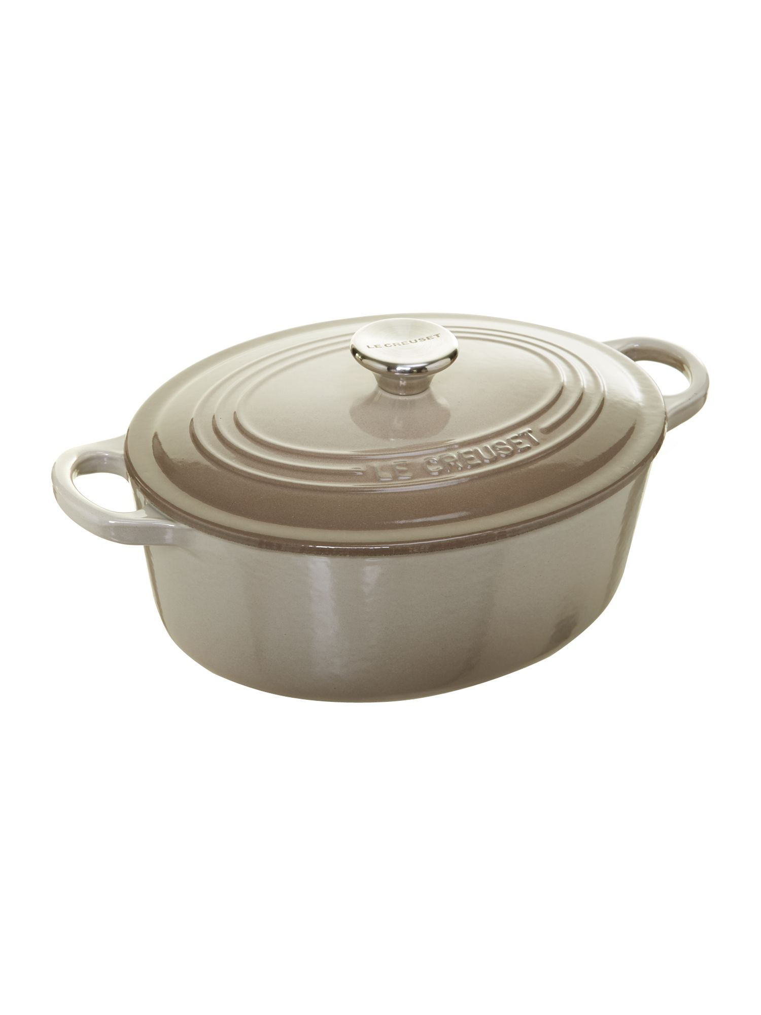 Cast Iron 25cm Oval Casserole Nutmeg