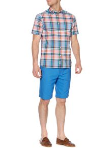napoli check short sleeved shirt