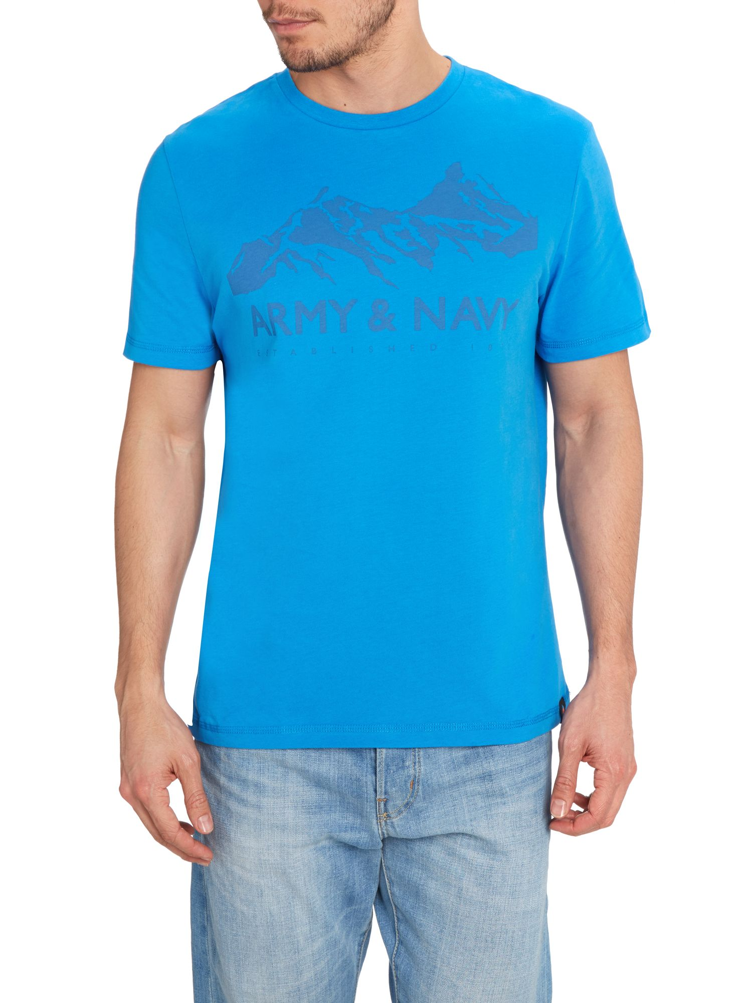 Mountain logo graphic tee