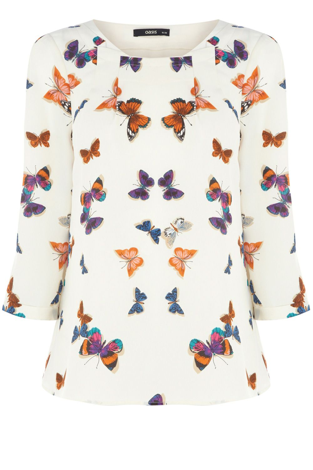 Butterfly tuck neck top