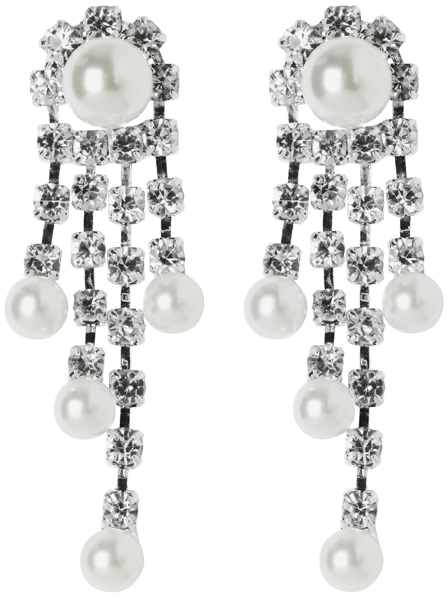 Sparkle pearl drop earrings