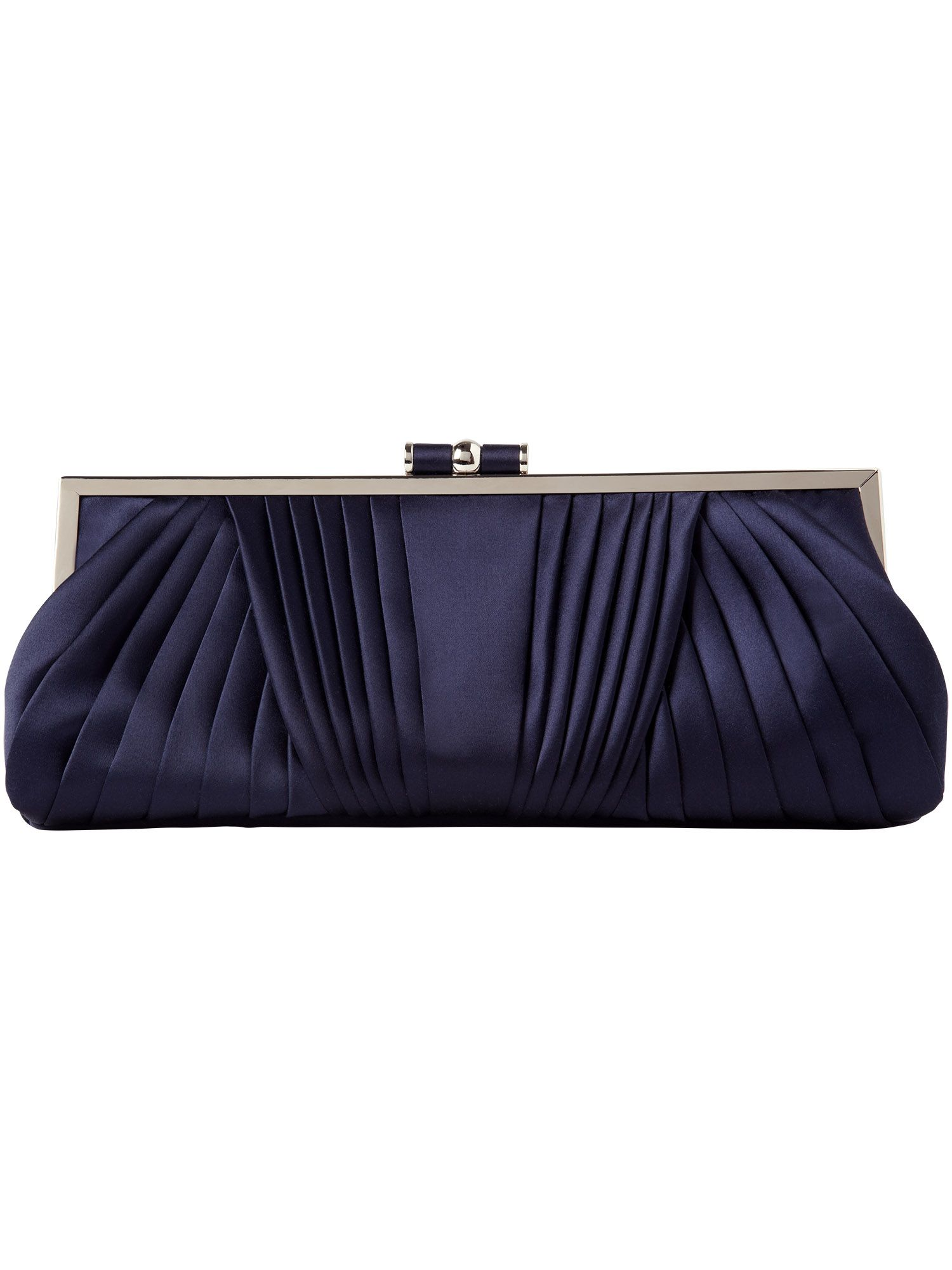 Angelina pleated satin clutch bag