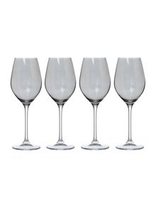 Smoked lustre wine set of 4