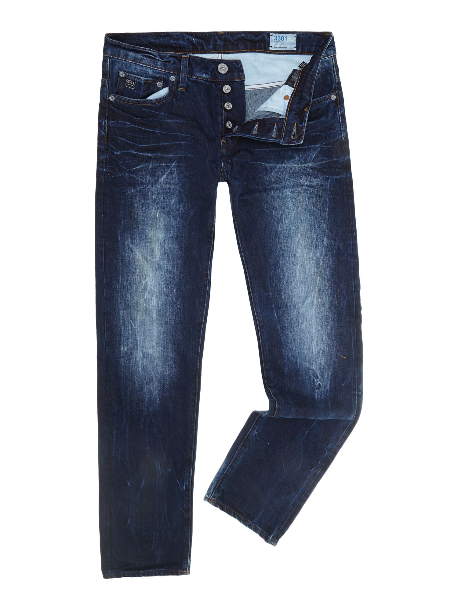 3301 low tapered leg jeans