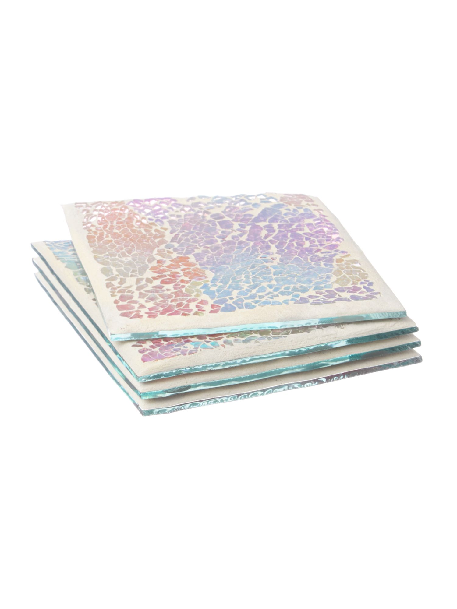 Free Spirit Crackle Glass Coasters