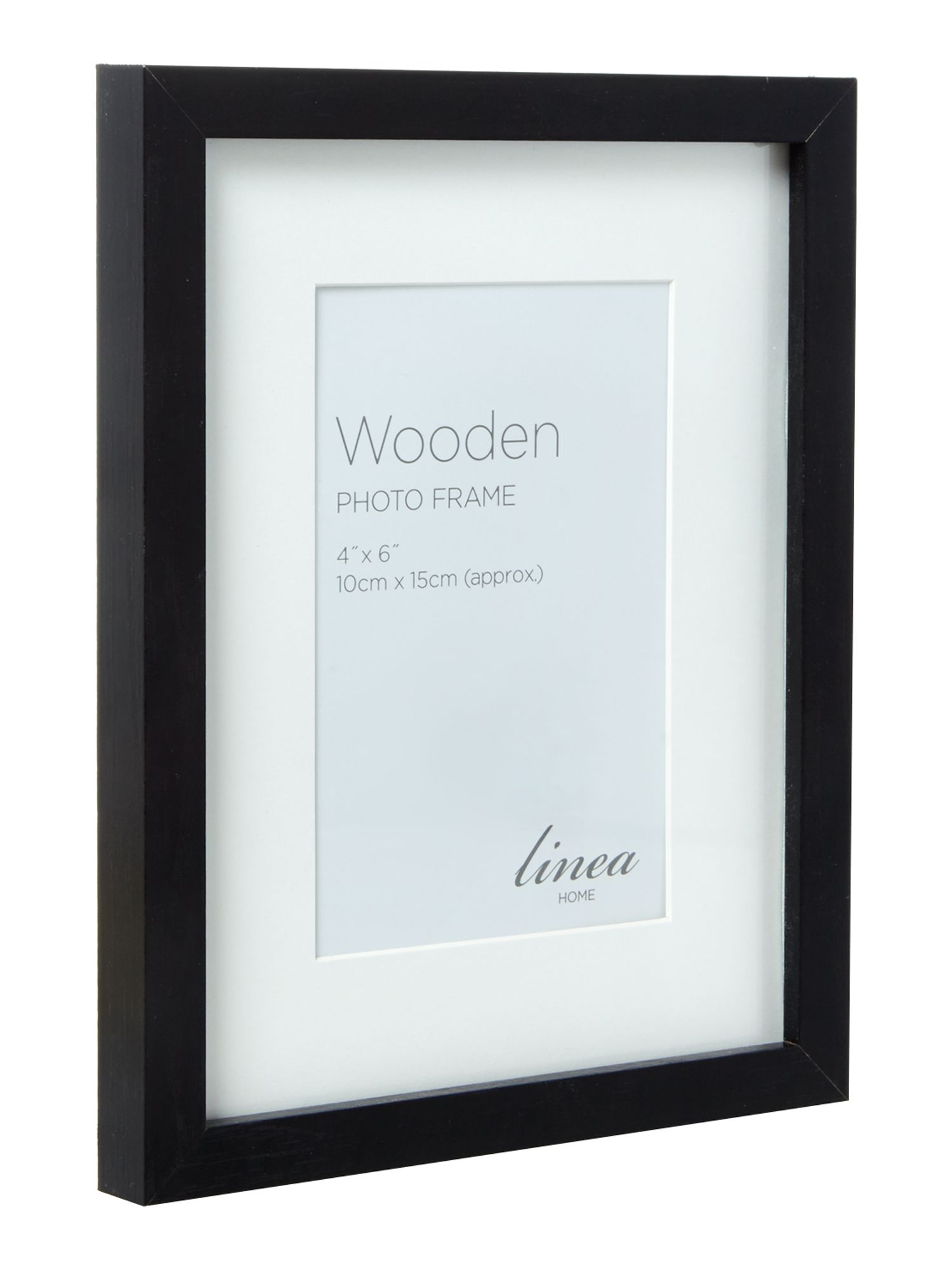 Black wood 7 piece gallery frame set