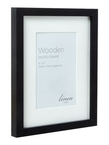 Linea Black wood 7 piece gallery frame set