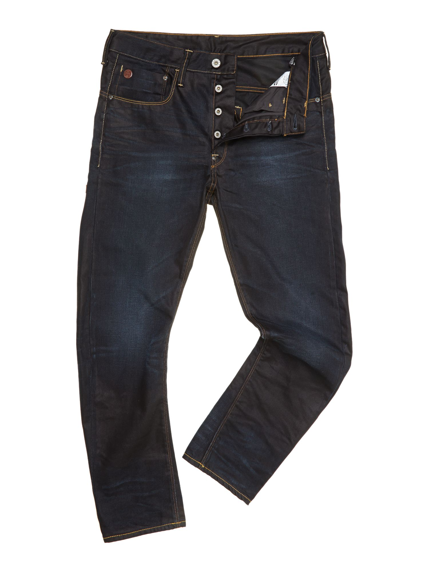 3D loose tapered jeans