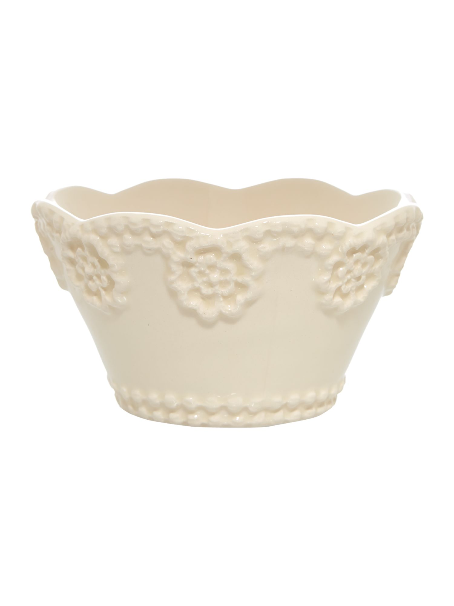 Lace cereal bowl