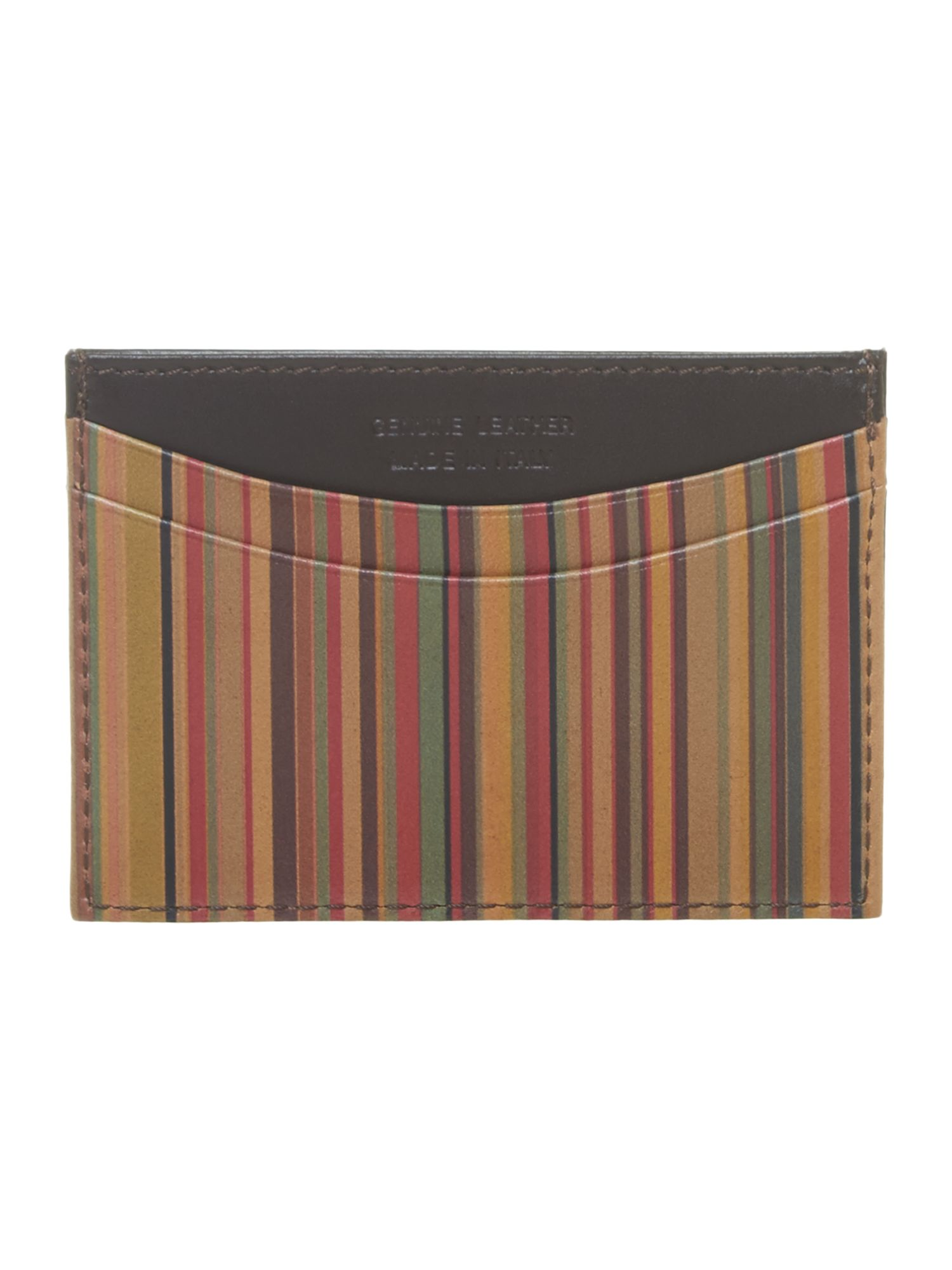 Multistripe card case and money clip