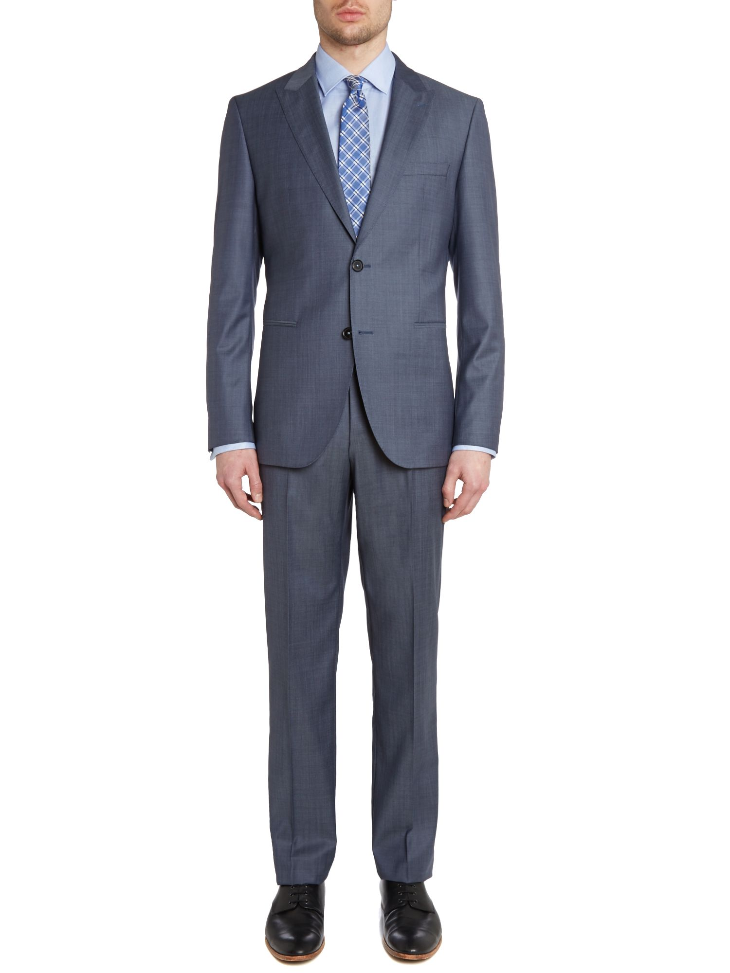 Jefford/Lenon diagonal twill regular fit suit