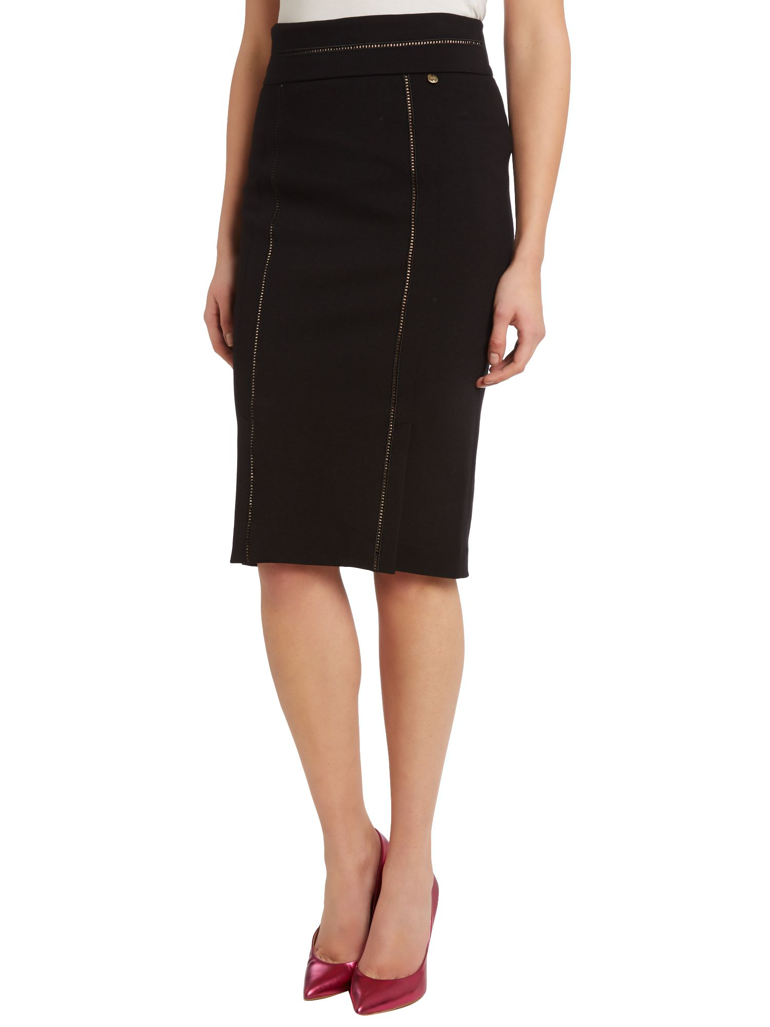 Jersey panel bodycon skirt