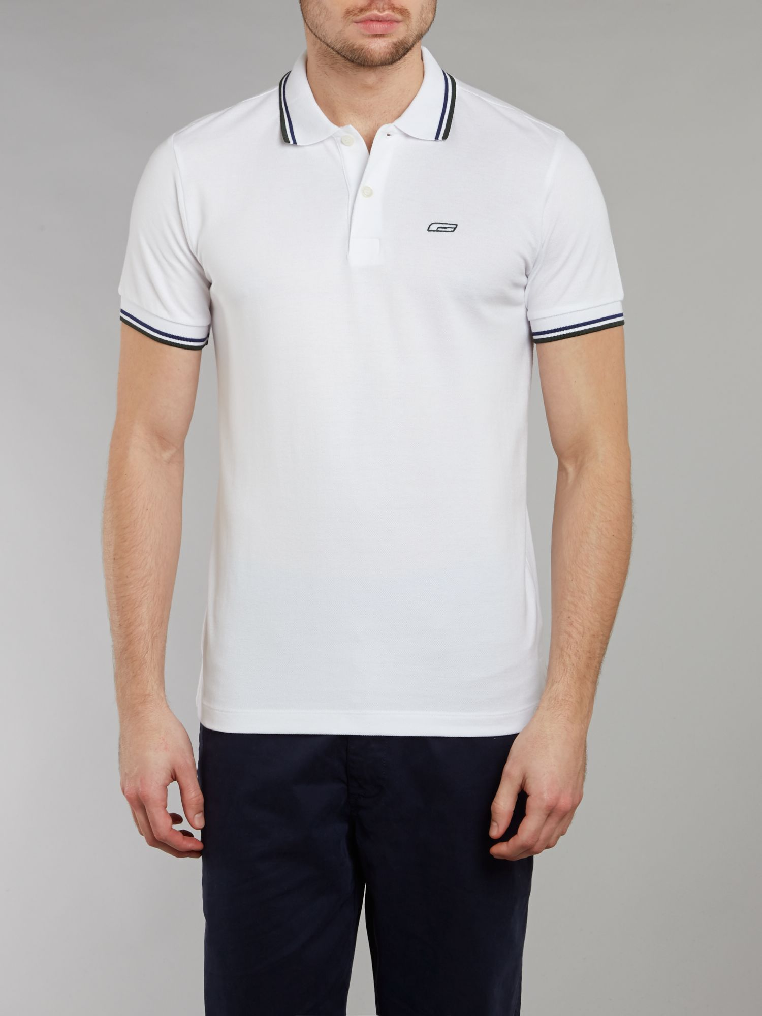 Short-sleeved tipped polo shirt