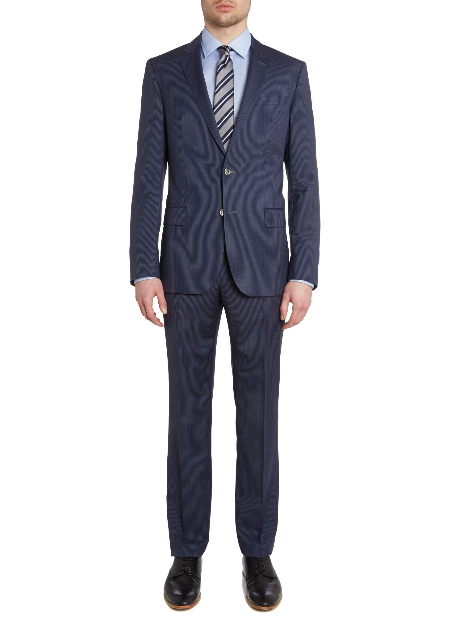 Hutson/Gander slim fit fine stripe suit