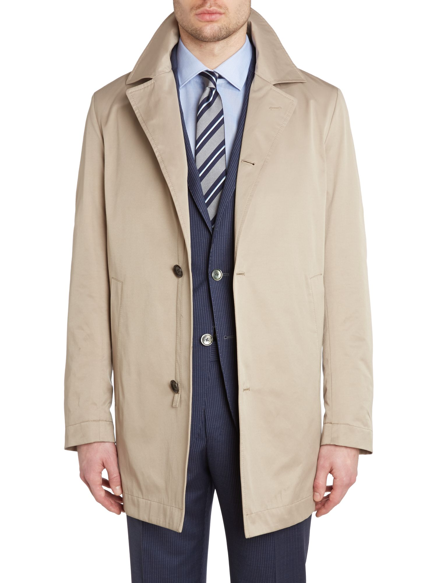 Dais slim fit raincoat