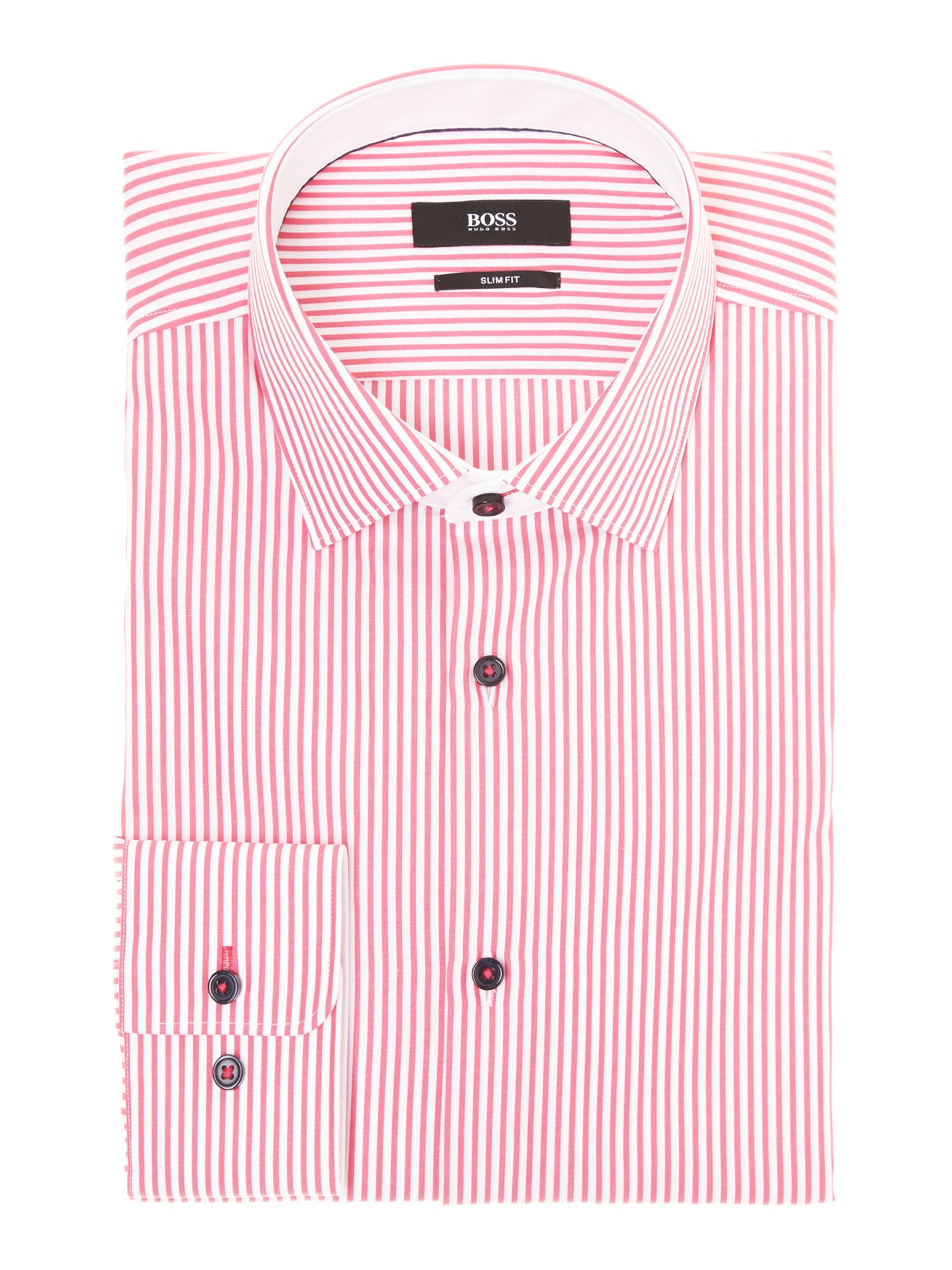 Juri bold stripe slim fit shirt
