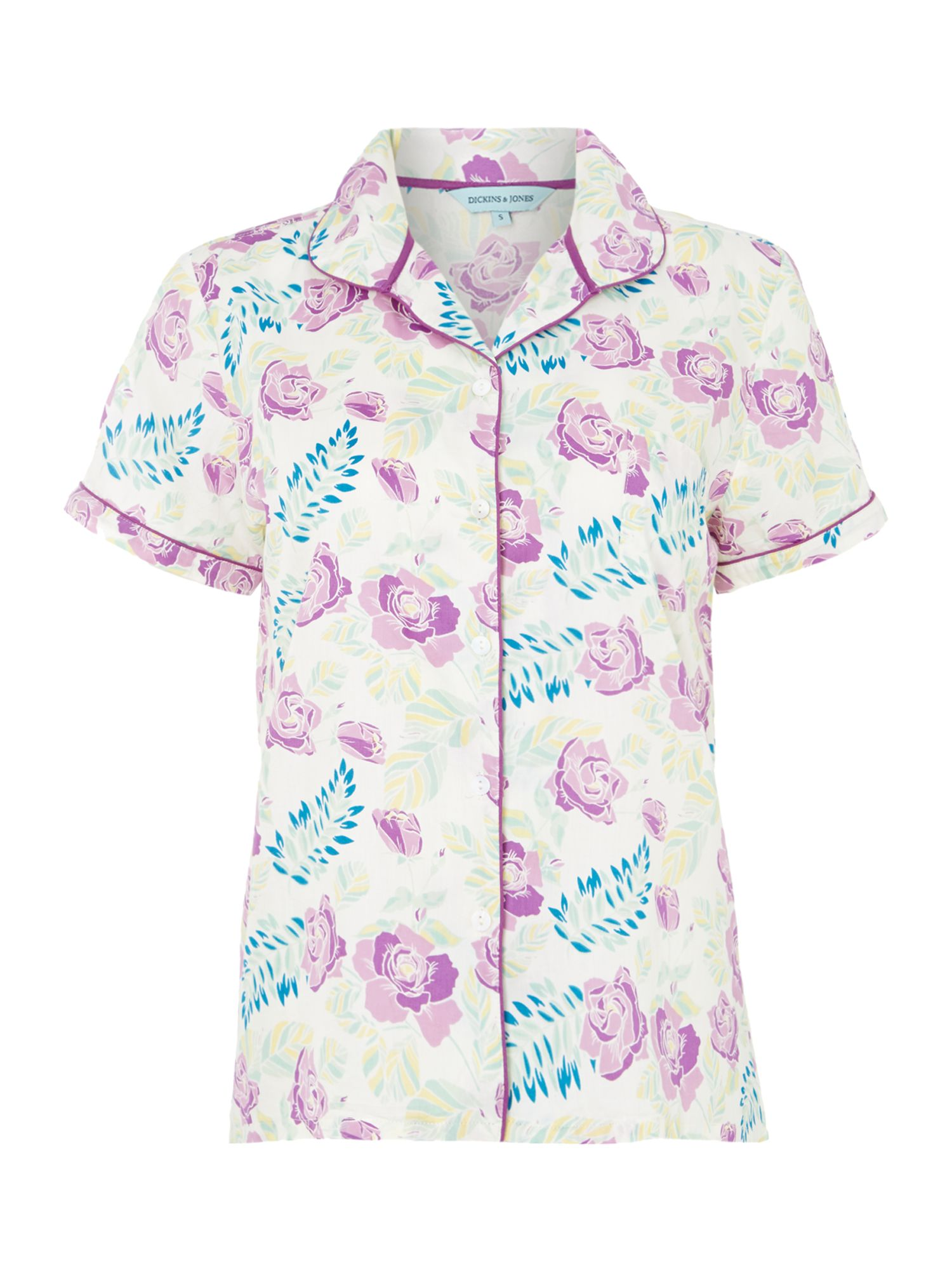 Evenlyn vintage floral short sleeve pj top