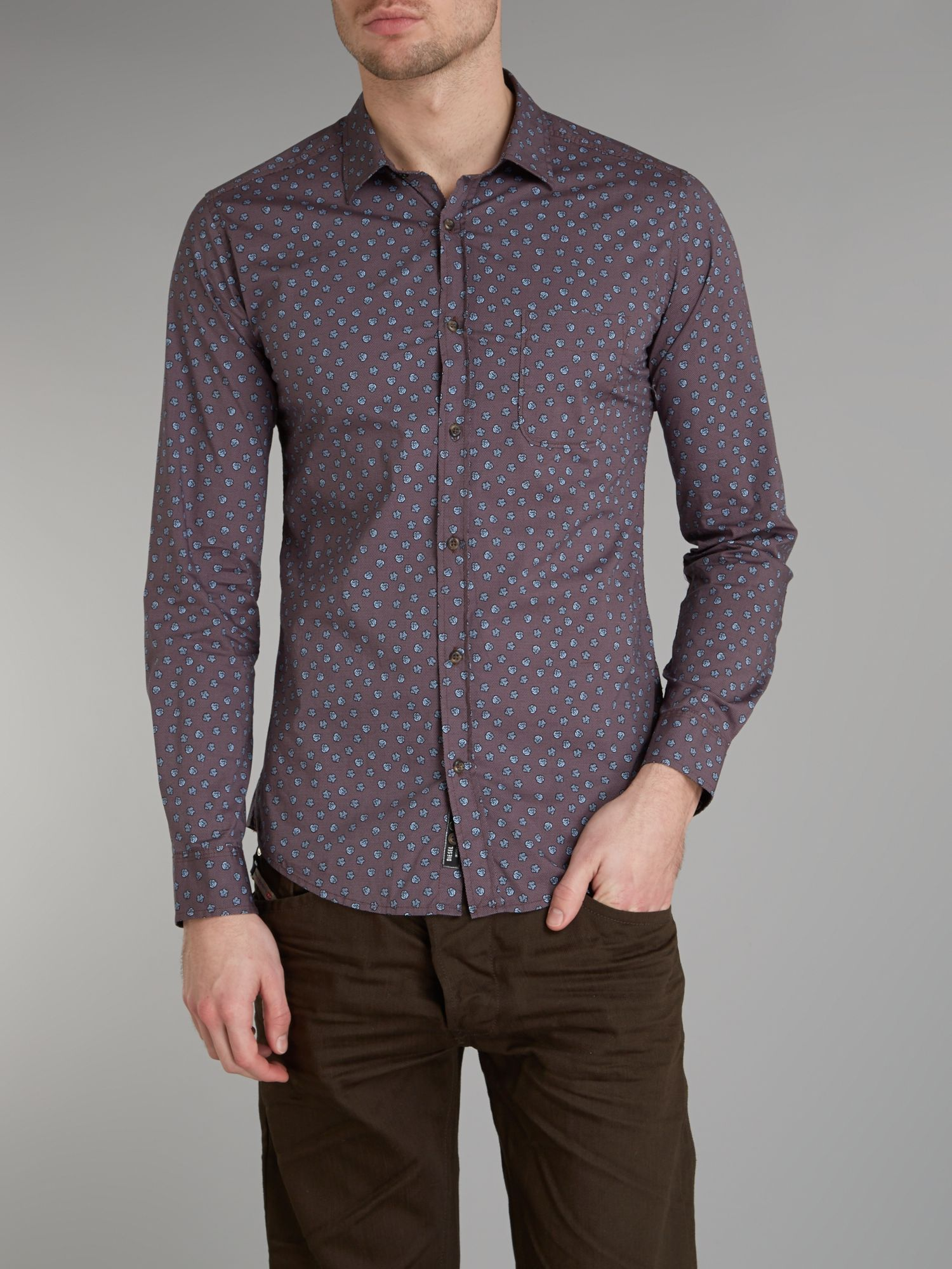 All over floral print shirt