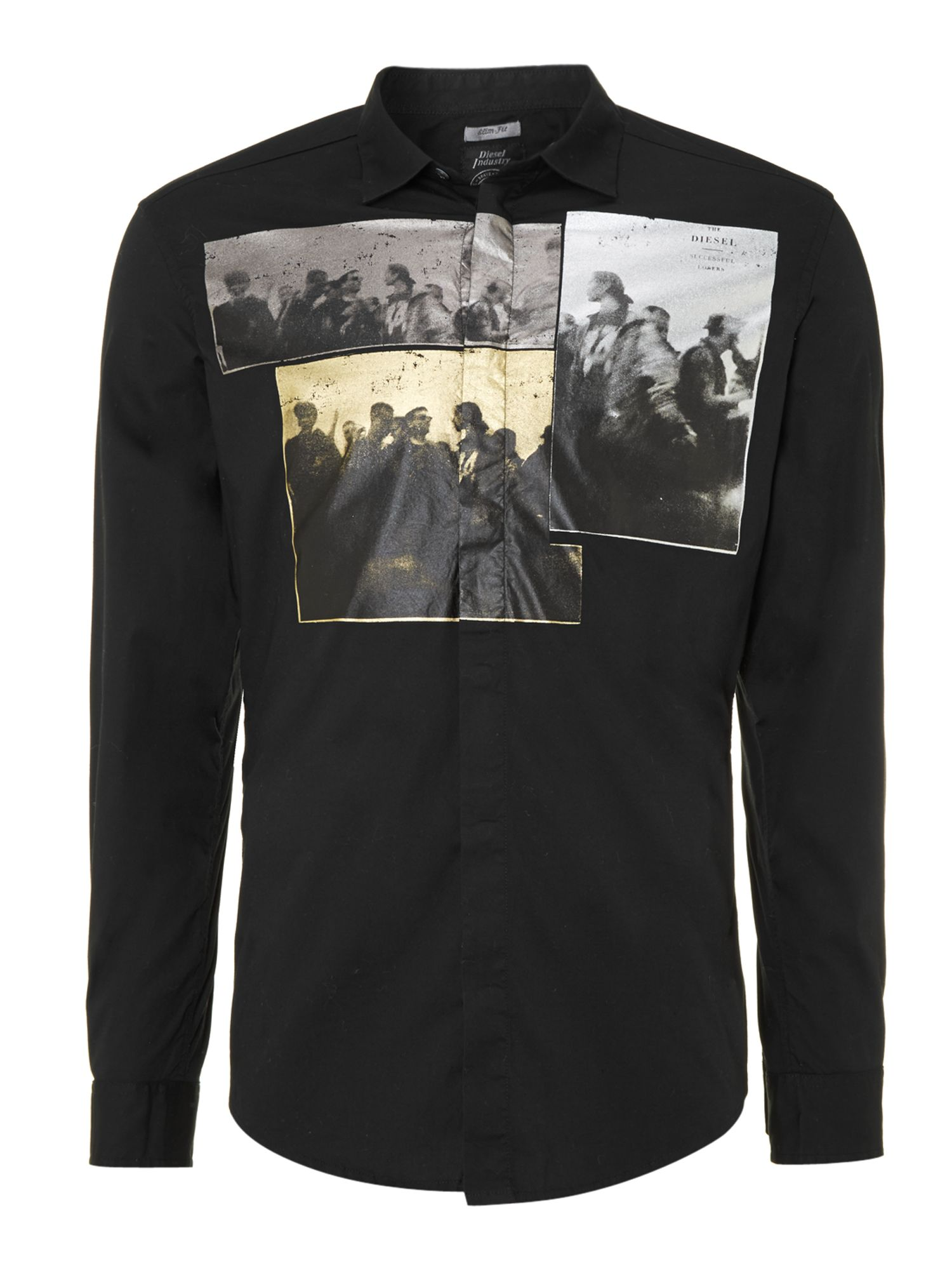 Foil photo long sleeve shirt