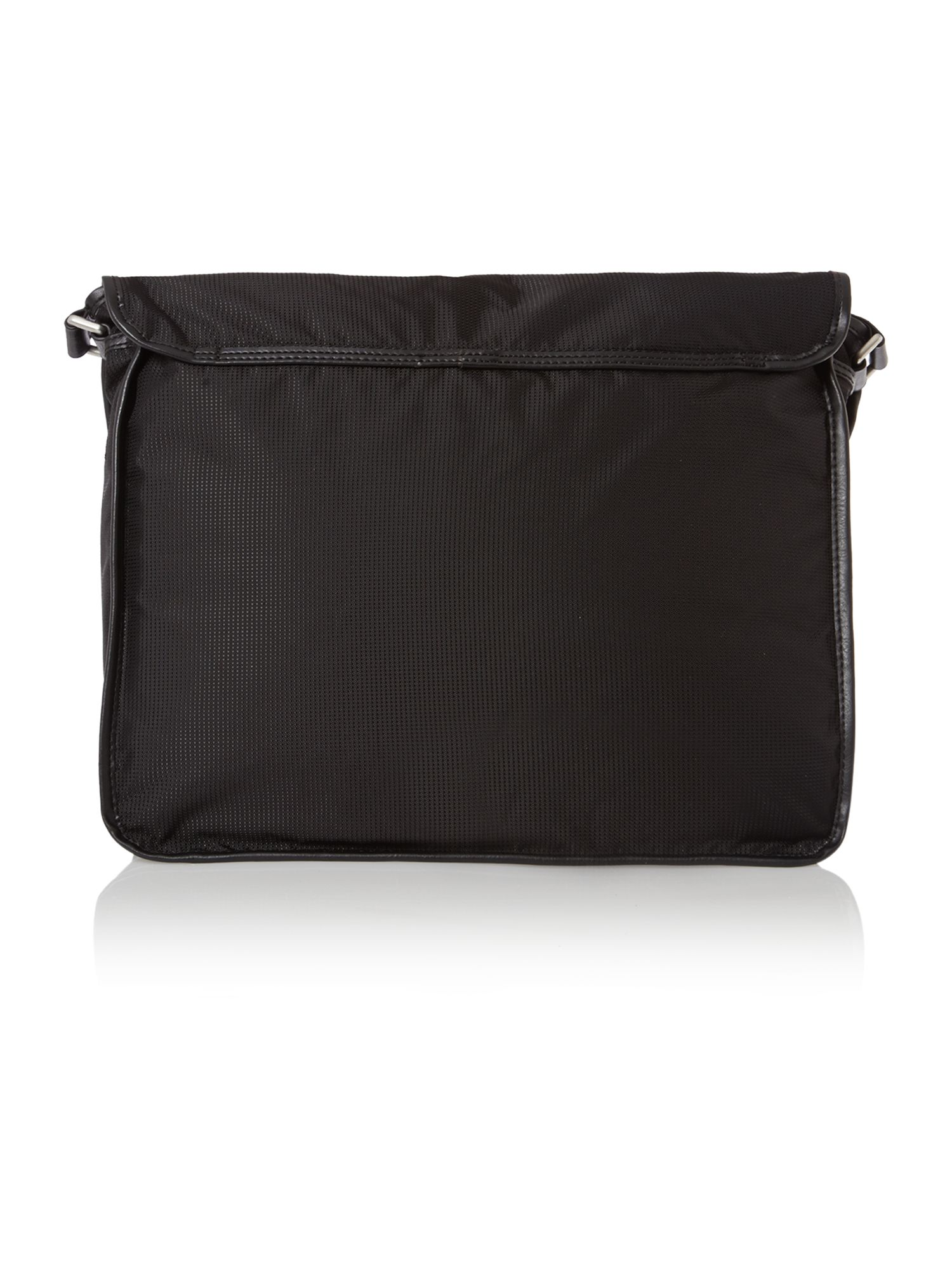 Logo messenger zip front bag