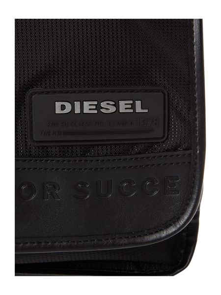 Diesel Logo messenger zip front bag