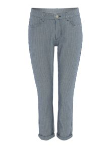 Linea Weekend Striped cropped jean