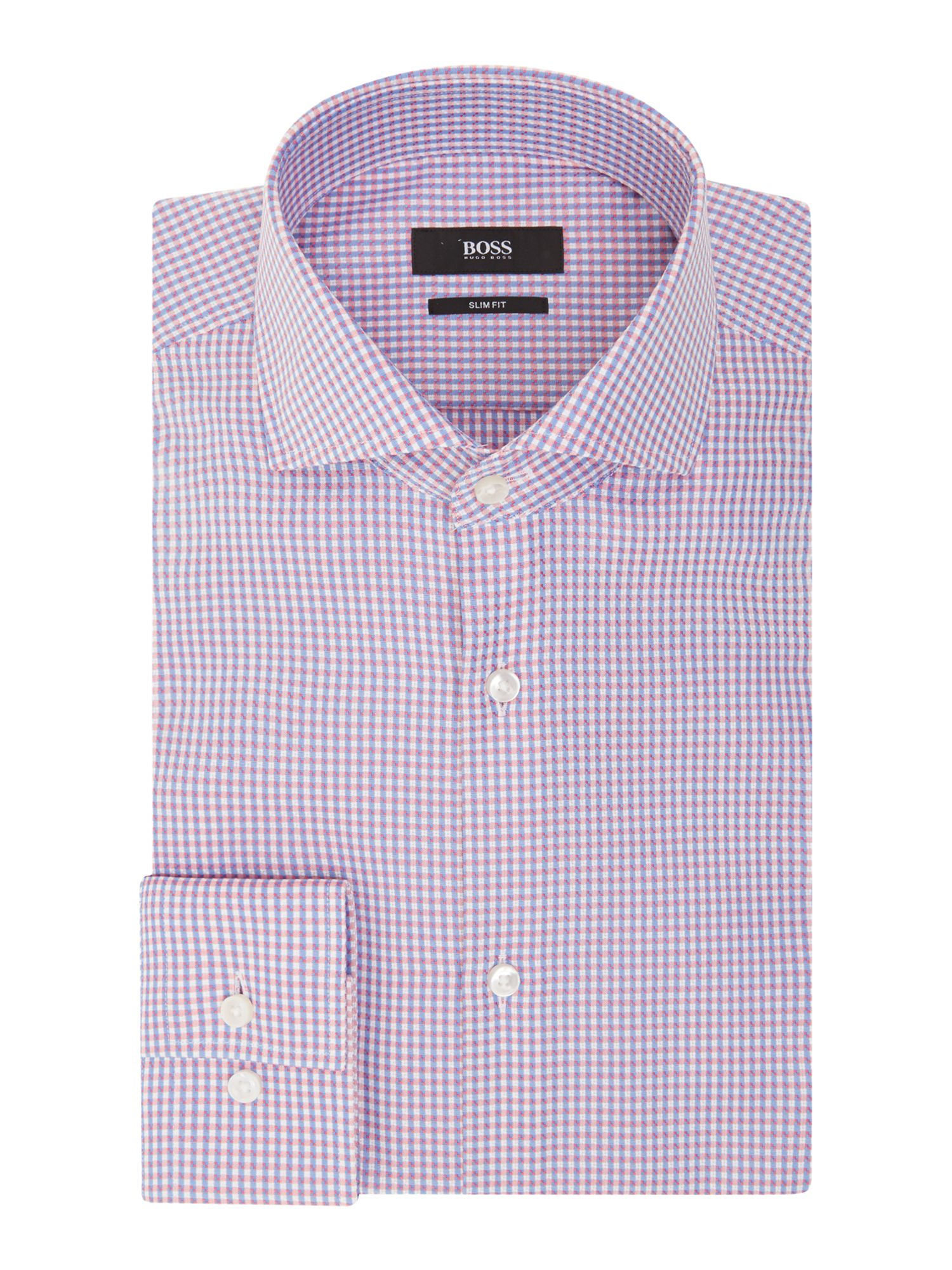 Micro pattern slim fit shirt