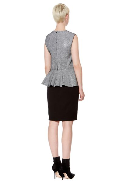 Pied a Terre Leather Panel Skirt