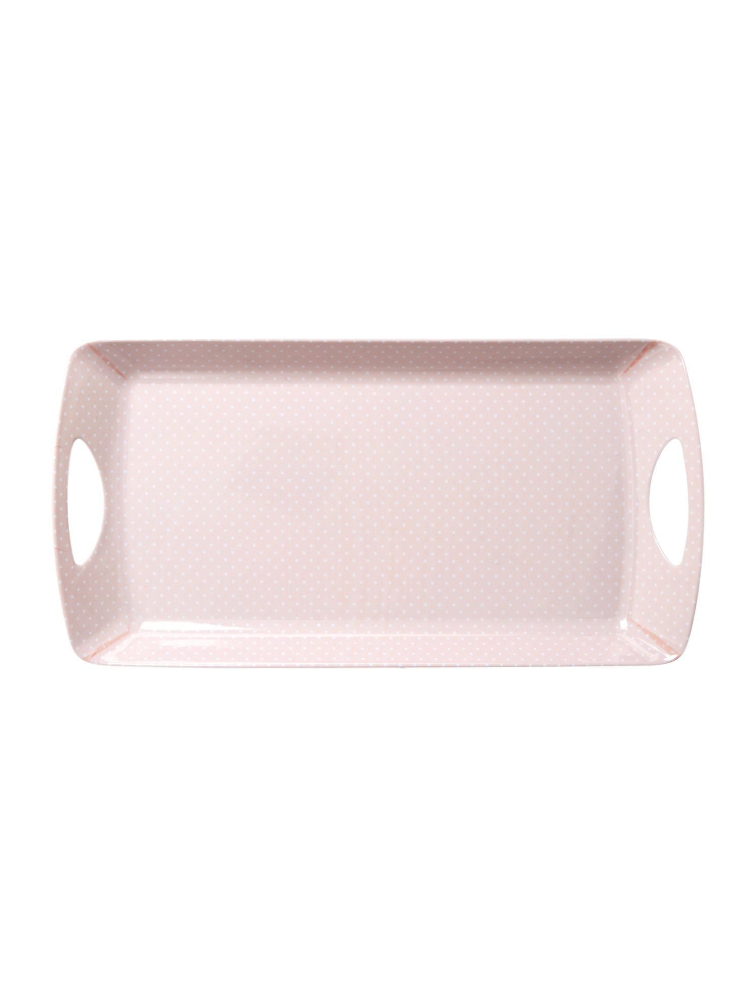 Vintage baking polka dot tray