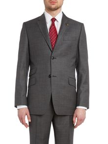 Hawjak sterling regular fit melange suit jacket