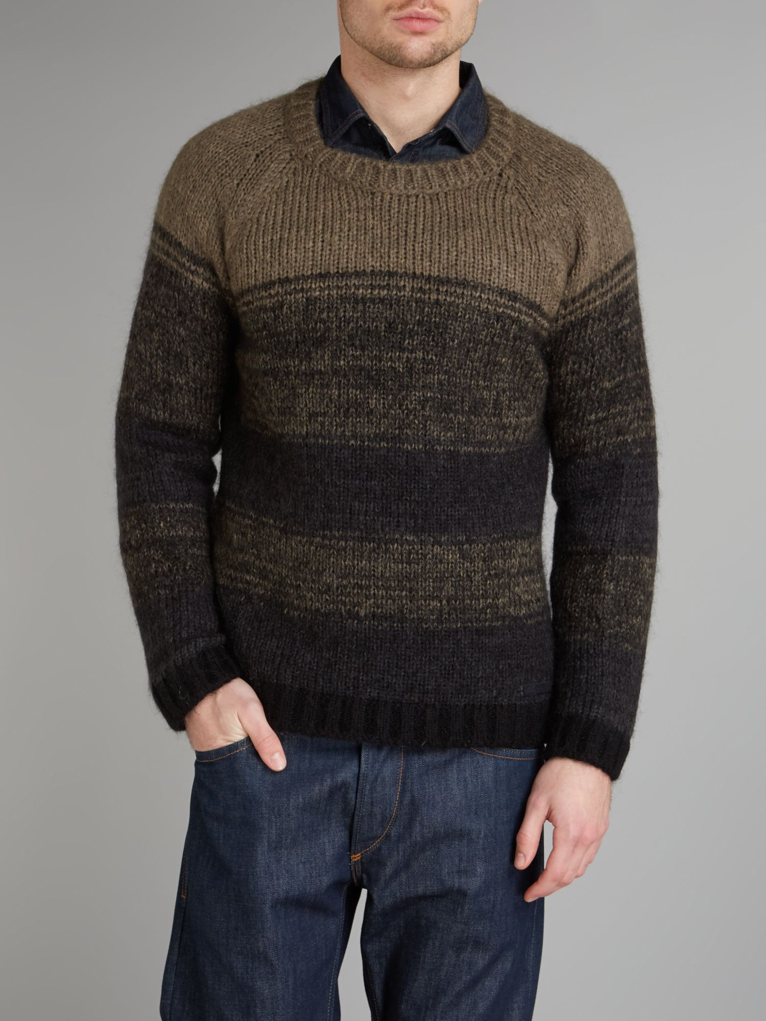 Lose stripe knitted jumper