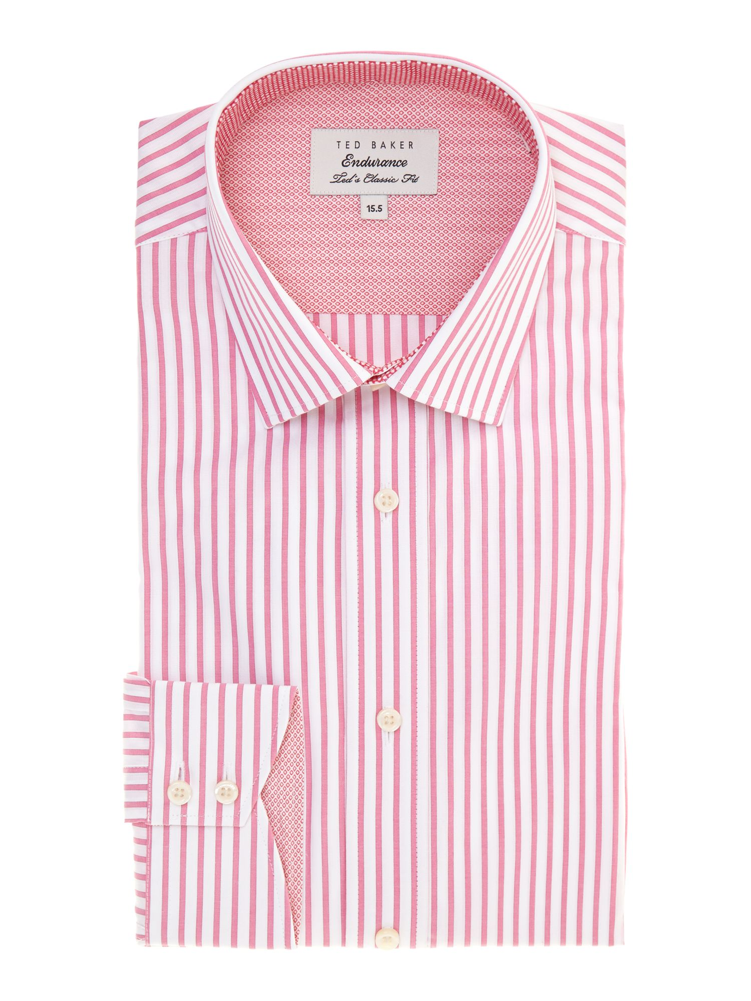 Solare regular fit candy stripe shirt