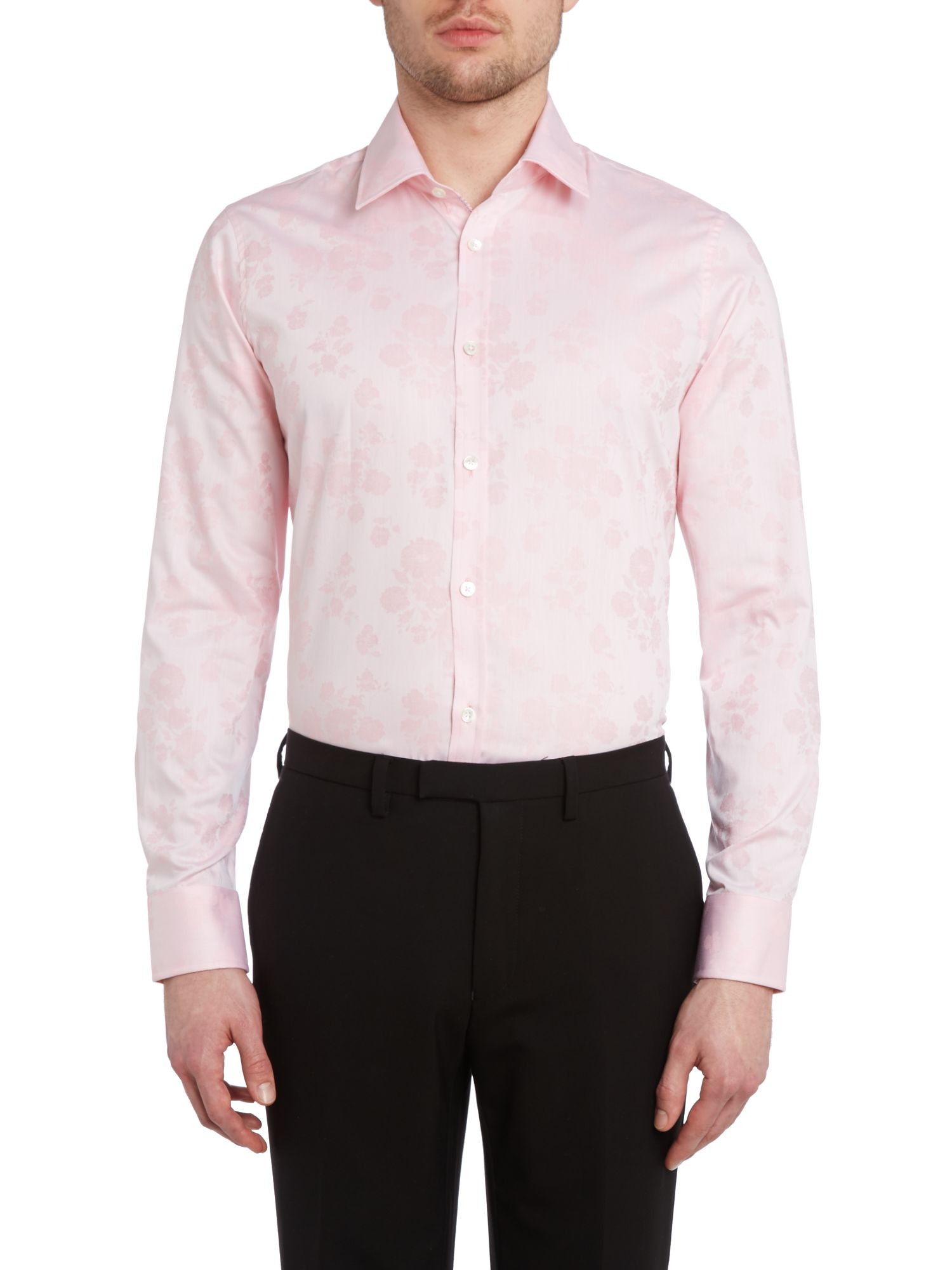 Biberia regular fit archive floral jaquard shirt