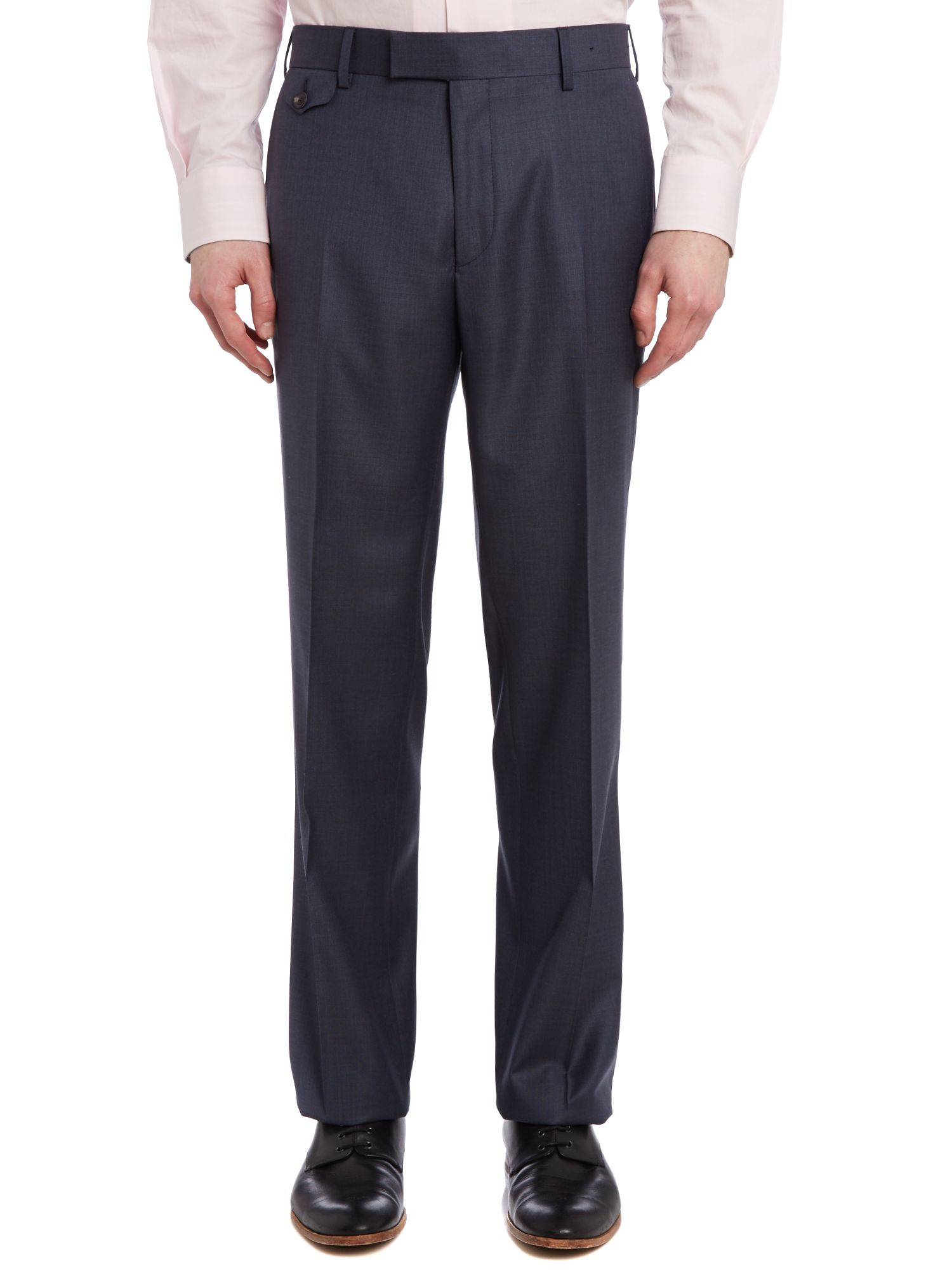 Hawtro sterling regular fit melange suit trouser