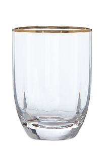 Gold rim optic tumbler