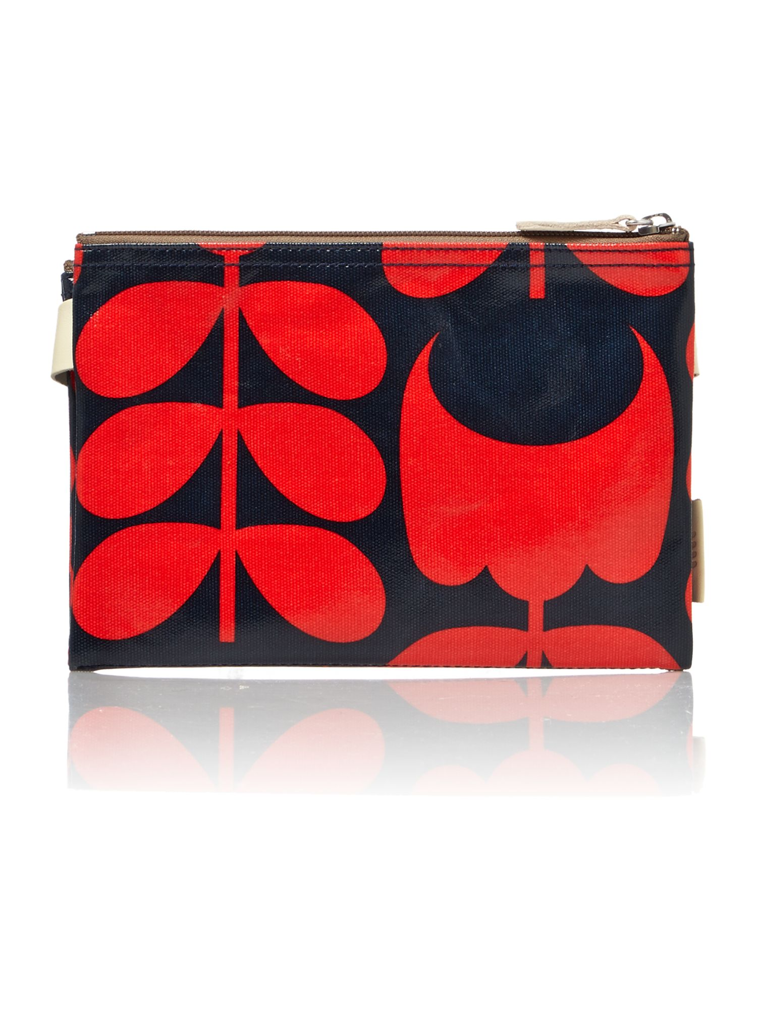 Shiny stem mini red cross body bag