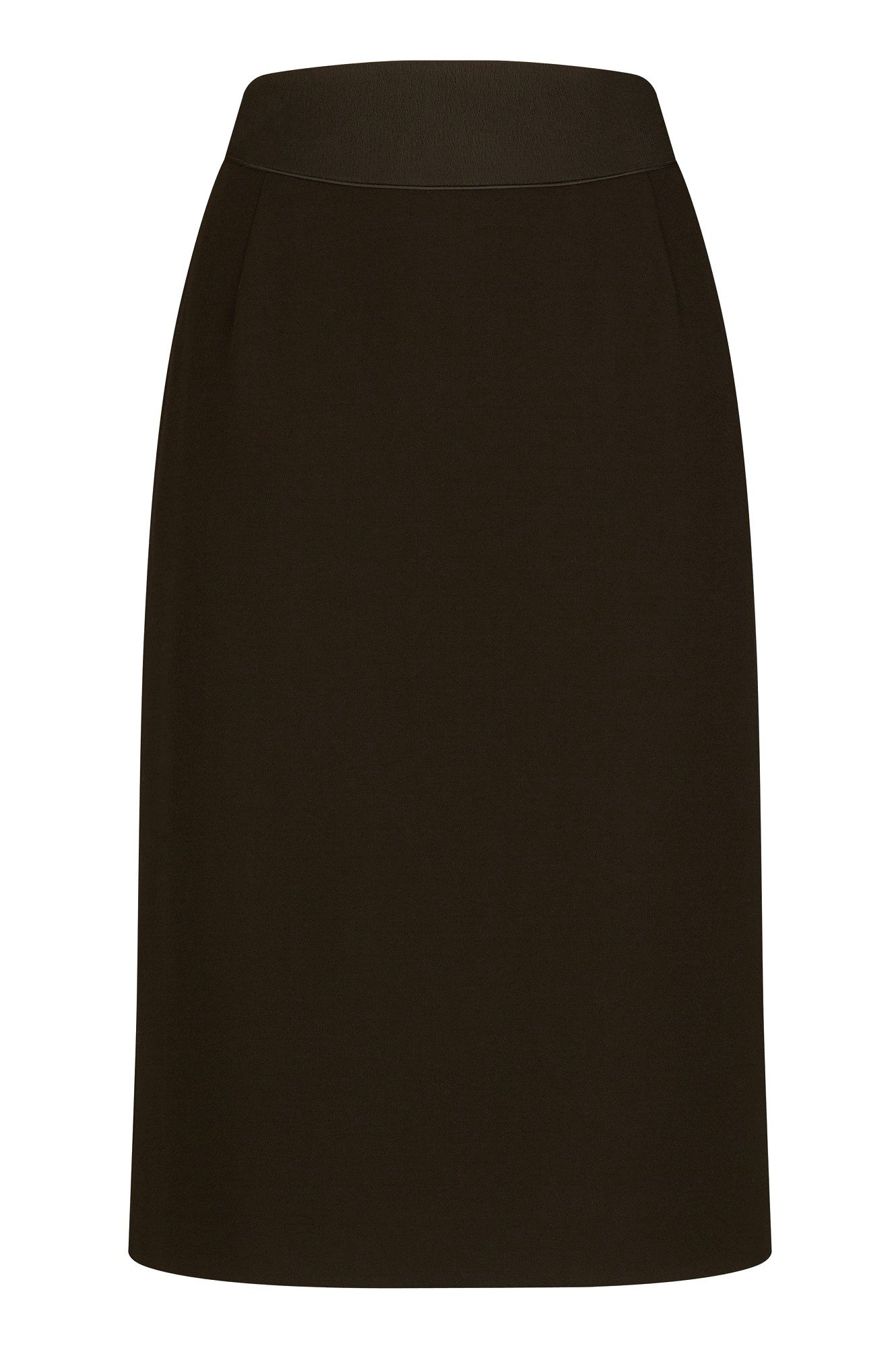Crepe basque pencil skirt