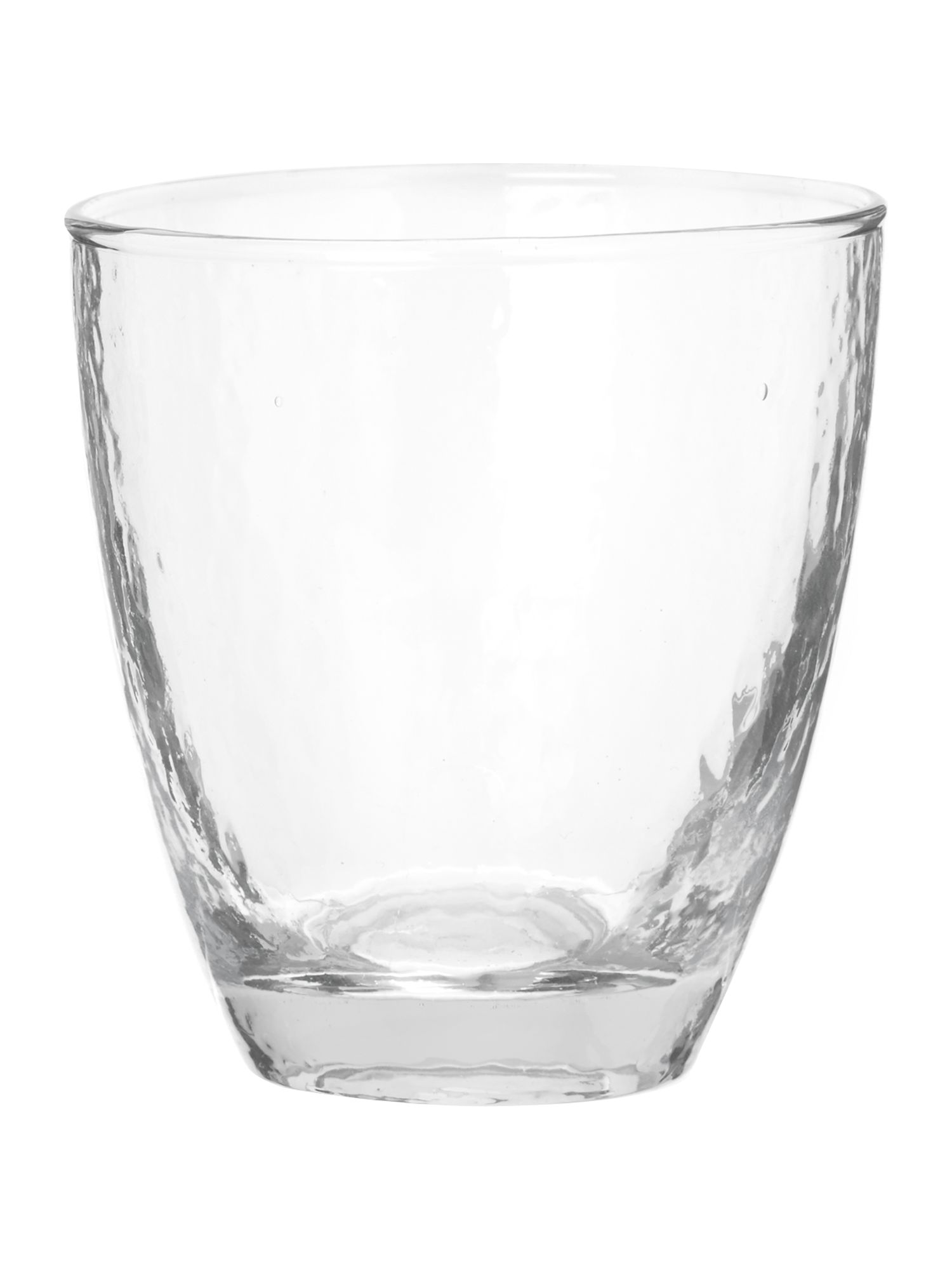 Ice pattern water glass in clear